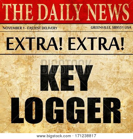 key logger, article text in newspaper