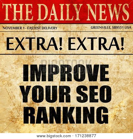 improve your seo ranking, article text in newspaper