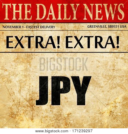 jpy, japanese yen, article text in newspaper