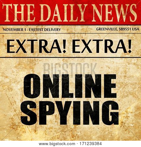 online spying, article text in newspaper