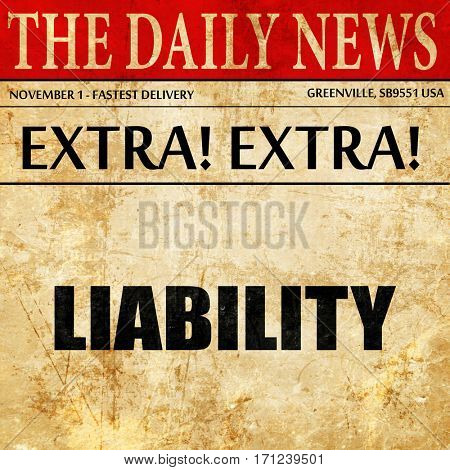 liability, article text in newspaper