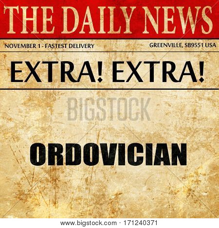 ordovician, article text in newspaper