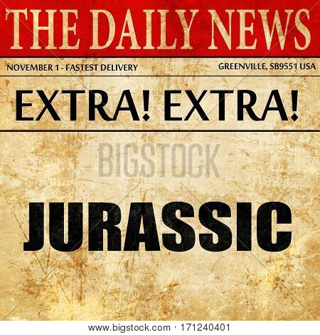 jurassic, article text in newspaper