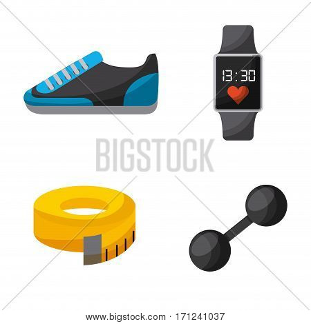 healthy lifestyle concept related icons over white background. colorful design. vector illustration