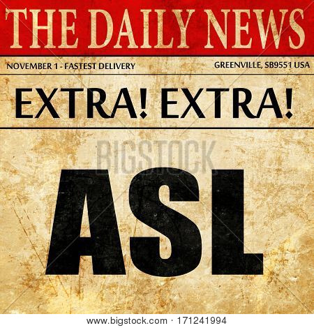 ASL, article text in newspaper