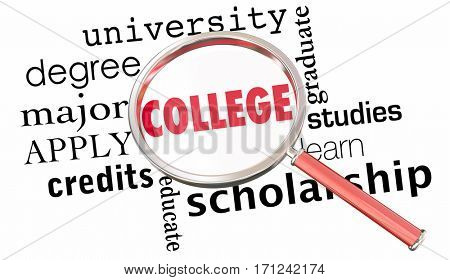 College University School Search Best Institution Education 3d Illustration