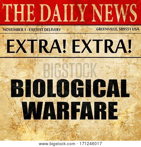 biological warfare, article text in newspaper