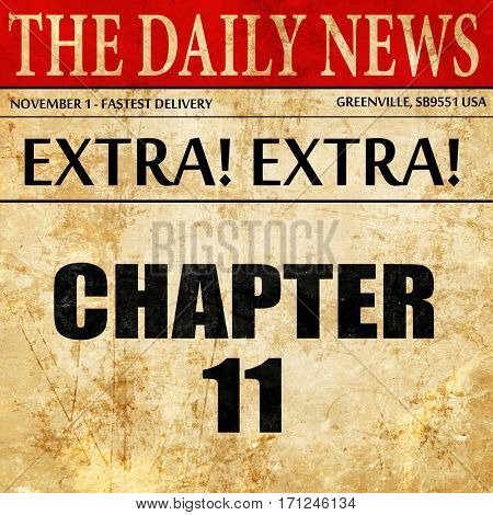 chapter 11, article text in newspaper