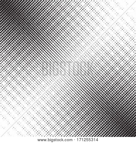 Halftone pattern with gradient effect. Diagonal points. Diagonally directed dots. Template for backgrounds and stylized textures. Design element with lined spots. Vector illustration in EPS8 format.