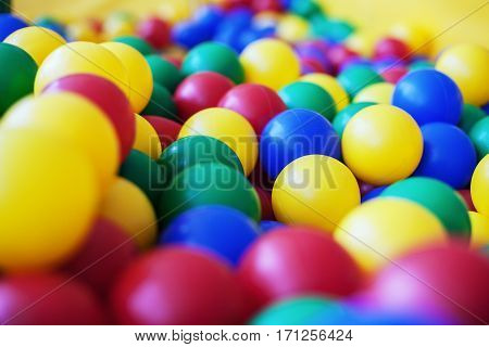 Colored balloons for children. The concept of children's backgrounds