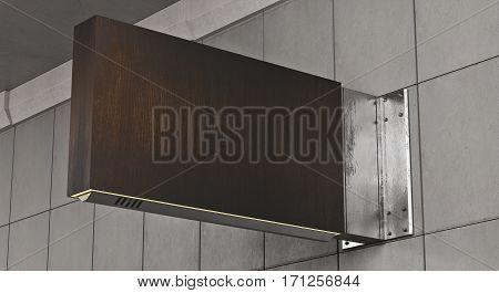 Rectangular Dark Wooden Stopper
