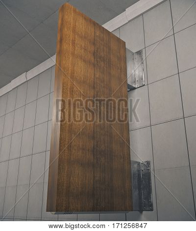 Vertical Dark Signboard Stopper