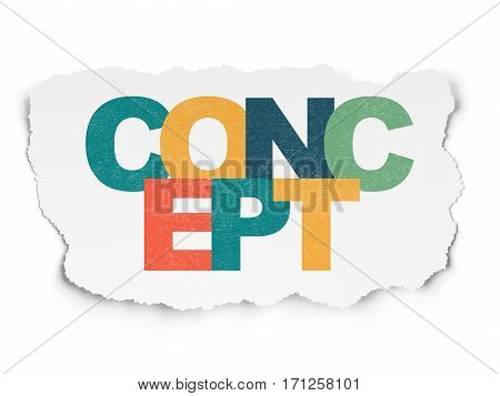 Marketing concept: Painted multicolor text Concept on Torn Paper background