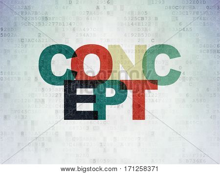 Marketing concept: Painted multicolor text Concept on Digital Data Paper background