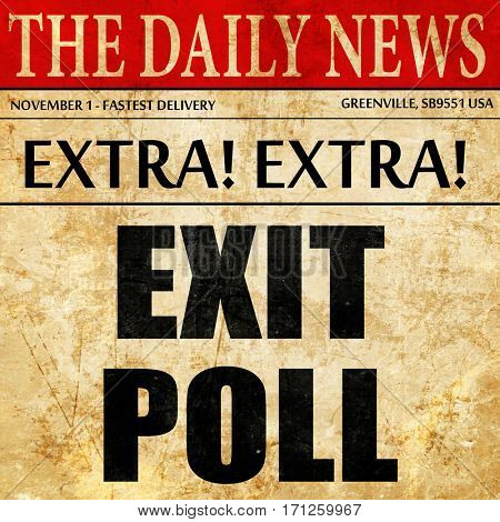 exit poll, article text in newspaper