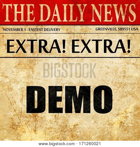 demo, article text in newspaper