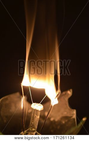 Burning Of The Filament In The Dark