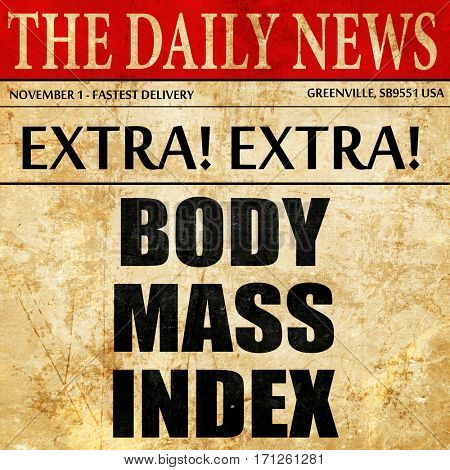 body mass index, article text in newspaper