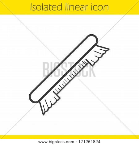 Brush linear icon. Thin line illustration. Contour symbol. Vector isolated outline drawing
