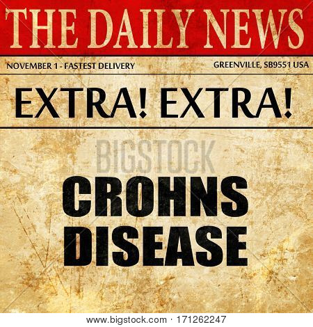 crohns disease, article text in newspaper