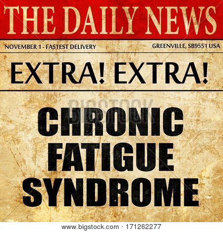 chronic fatigue syndrome, article text in newspaper