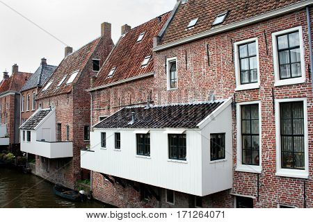 The hanging kitchens over the Damsterdiep in Appingendam