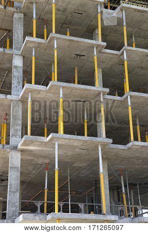 Structure or new condominium or apartment in construction