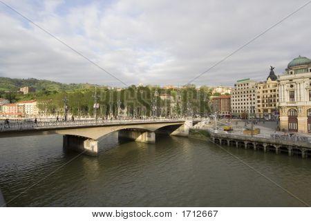 Panoramic View Of Bilbao City