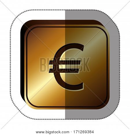 Euro currency symbol icon image, vector illustration