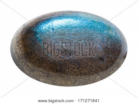 Cabochon Of Labradorite Gemstone Isolated