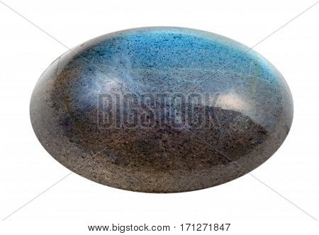 Cabochon Of Labradorite Gem Isolated