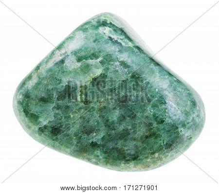 Polished Green Jadeite Gemstone Isolated