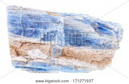 Specimen Of Raw Kyanite Rock Isolated