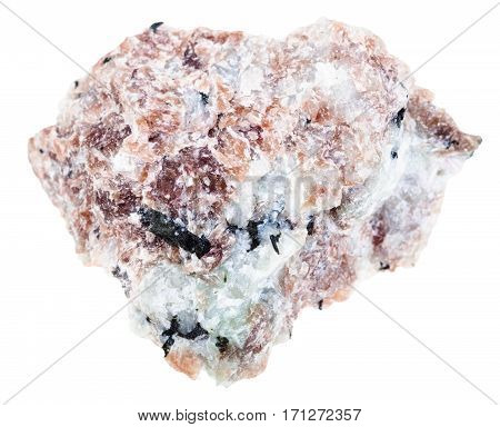 Pink Miserite Crystals In Rock Isolated