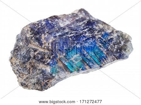 Raw Labradorite Stone Isolated