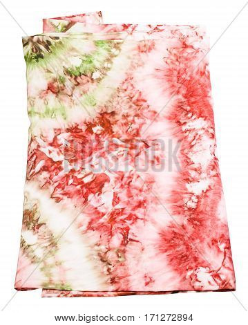 Silk Scarf With Abstract Pink And Green Pattern