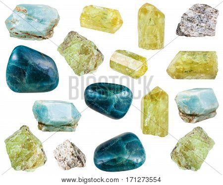Collection Of Various Apatite Mineral Stones