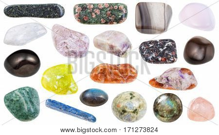 Collection Of Various Polished Mineral Stones