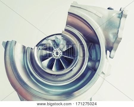 Turbocharger Structure With Cross Section