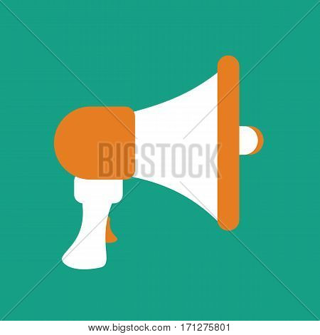 Mouthpiece illustration on the green background. Vector illustration