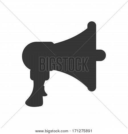 Mouthpiece illustration silhouette on the white background. Vector illustration