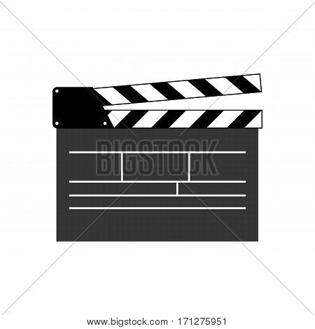 Movie clapper on the white background. Vector illustration