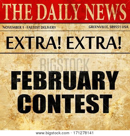 february contest, article text in newspaper