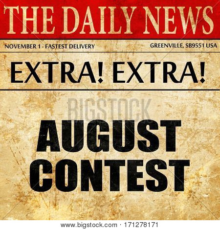 august contest, article text in newspaper