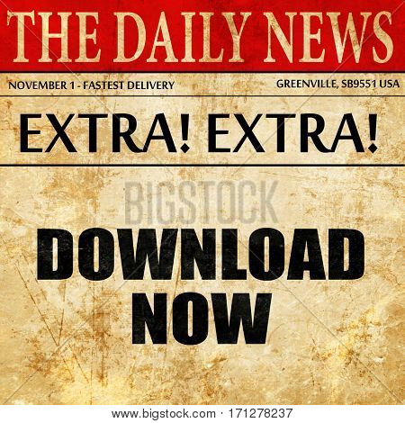 download now, article text in newspaper