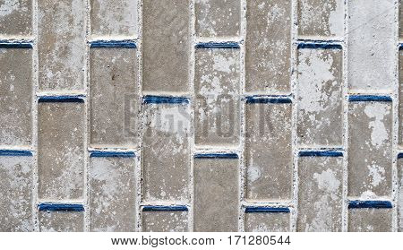 Paving stone from small concrete Blocks. Paving stone Texture