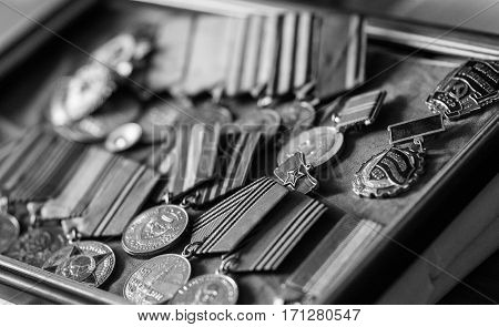 Medals veteran of the Second World War on Nazism etc.