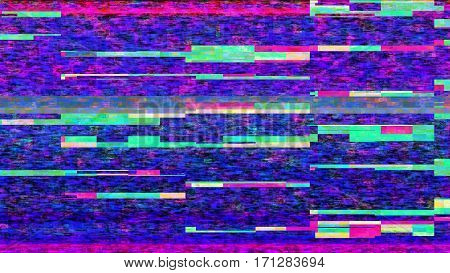 Futuristic, streaming data malfunction video screen display. From a series of abstract future tech imagery.