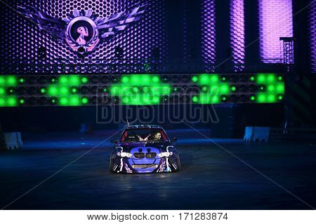 MOSCOW - OCT 1, 2016: Racing car at G-Drive show Race Millennium in Sports complex Olympiysky