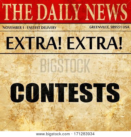 contests, article text in newspaper